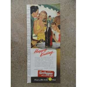 Dr. Pepper,Vintage 40s print ad (dr.pepper on tray)Original vintage