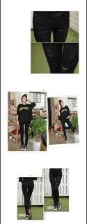 Womens Casual Edge Black slim Skinny Jeans Korea Style Pants 25~32