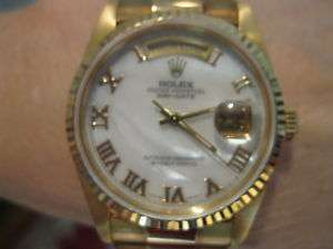 ROLEX PRESIDENT MENS,DOUBLE QUICK SET,BOX,BOOKS,98%MINT