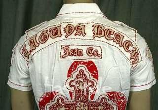 Laguna Beach Jean White Red Cross Button Down shirt S