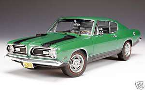 HWY 61 COLLECTIBLES 118 SCALE RALLYE GREEN 1969 PLYMOUTH BARRACUDA