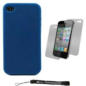 Blue Smooth Durable Protective Silicone Skin Cover Case for New Apple