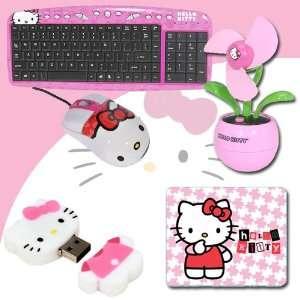 3D Mouse Pad (Pink) #74509 + Hello Kitty USB Desktop Fan (Pink) #81109