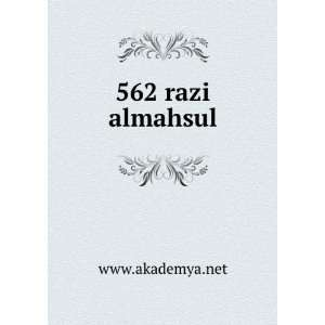 562 razi almahsul www.akademya.net Books