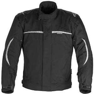 Mens Waterproof Sports Bike Racing Motorcycle Jacket   Black / Large