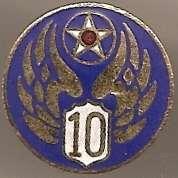 10th ARMY AIR CORPS DUI **pin back**RARE**