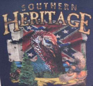Tshirt Southern Heritage Turkey Confederate Flag Rebel Redneck Dixie