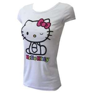 Hello Kitty White Bow Shirt JR MD