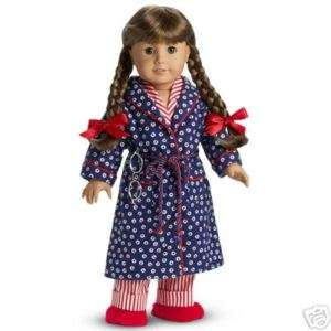 AMERICAN GIRL MOLLY ROBE & FUZZIE WUZZIE SLIPPERS NIB