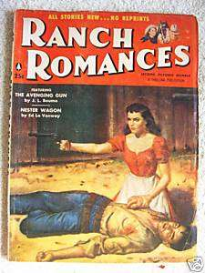 OCTOBER 19, 1956, RANCH ROMANCES, WESTERN PULP MAGAZINE