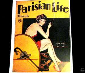 COVER REPRINT ART TO PARISIAN LIFE PULP MAGAZINE/1920S
