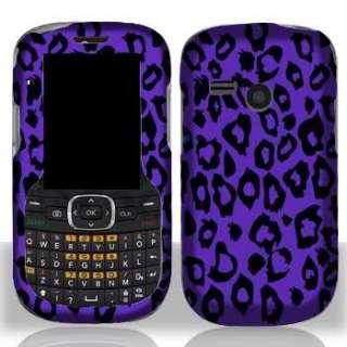 Straight Talk LG501C Faceplates Snap On Phone Case Cover PurpLEOP FREE