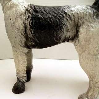 Hubley heavy Cast Iron Wire Hair Fox Terrier Dog Doorstop #279