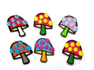 MUSHROOM PSYCHEDELIC IRON ON PATCH EMBROIDERED I346