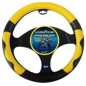 Goodyear GY SWC308 Yellow/Black Steering Wheel Cover