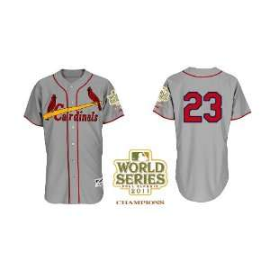 St. Louis Cardinals Authentic MLB Jerseys David Freese GREY Cool Base