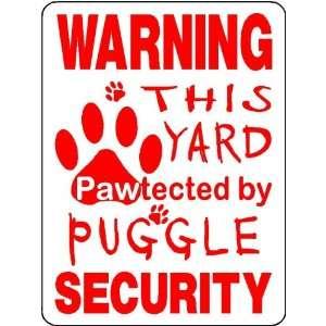 PUGGLE ALUMINUM DOG SIGN 3214
