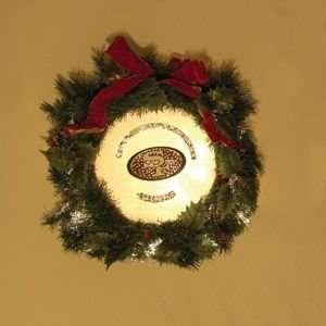 San Francisco 49ers 22 Holiday Christmas Wreath   NFL