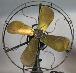 Large Antique General Electric Art Deco 3 Speed Fan c. 1930s Working