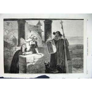Le Reliquaire By Goodall Old Print 1863 Fine Art: Home