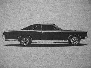 1967 GTO T Shirt, Pontiac 67 le mans tiger