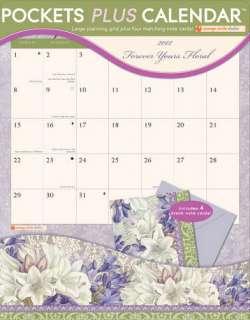 Forever Yours Floral 2012 Pocket Wall Calendar 1608973662