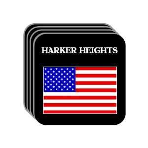 US Flag   Harker Heights, Texas (TX) Set of 4 Mini Mousepad Coasters