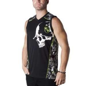 Metal Mulisha Legendary Jersey Mens Tank Race Wear Shirt   Black/Grey