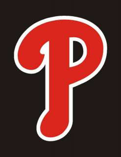 Philadelphia Phillies RED P Logo Sticker Decal 10