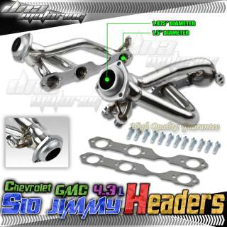 4WD 4.3L V6 CHEVY S10/BLAZER/GMC JIMMY/SONOMA STAINLESS STEEL HEADER