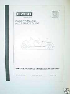 EZ GO SERVICE MANUAL ELECTRIC 5 PASSENGER GOLF CART