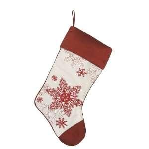 Merry Christmas Embroidered Snowflake Christmas Stocking I
