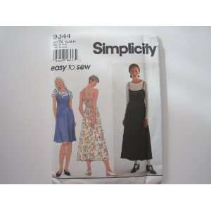 Simplicity Pattern 9344 Misses/Miss Petite Dress and Top