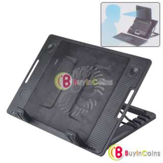 Cooling Cooler Pad Fan 2 USB Adjustable Angle Stand Flash Fan