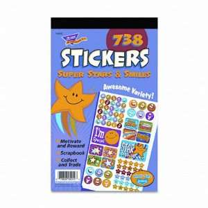 Sticker Pad, Super Stars & Smiles, Assorted Colors, 738