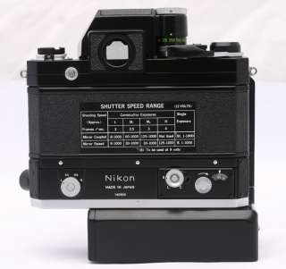 Film Camera & F 36 High Speed Motor & Battery Holder Mint+