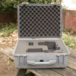 Pelican 1550 Case   SILVER GRAY   HARD SHELL   WATER PROOF   SUPER