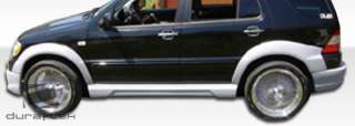01 Mercedes ML Class W163 W 1 Fender Flares Duraflex Fiberglass