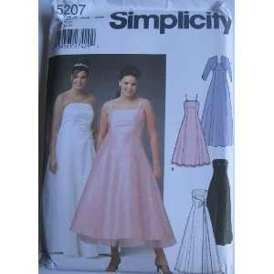 SIMPLICITY PATTERN 5207 WOMENS PETITE EVENING DRESS IN