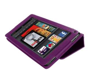 Leather Folio Stand Case Cover for  Kindle Fire 7 Tablet