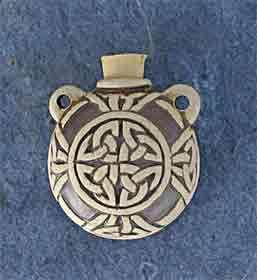 High Fired Ceramic Bottle, Celtic Design, New