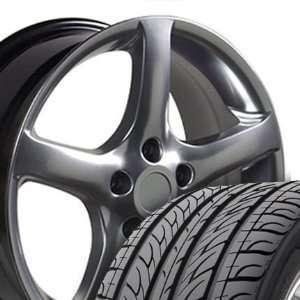 Wheels and Tires Fits Nissan   Hyper Black 17x7 Set of 4 Automotive