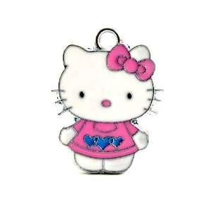 12X DIY Jewelry Making Hello Kitty Charm Enamel Pendant