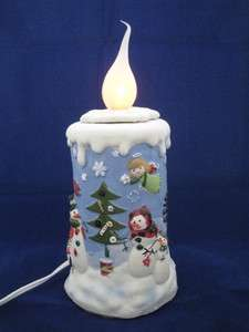 Christmas Ceramic Electric Flickering Candle   New Holiday