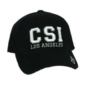 CSI LOS ANGELES LA TV SHOW CBS BASEBALL CAP HAT BLACK