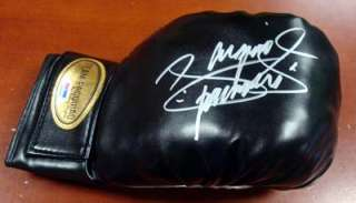 MANNY PACQUIAO AUTOGRAPHED SIGNED BLACK TEAM PACQUIAO BOXING GLOVE PSA