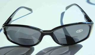 READING bi FOCAL SUNGLASSES~ BLACK FRAMES TINTED LENS