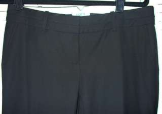 ANN TAYLOR LOFT Black Marisa City Synthetic Lengthening Trousers Pants