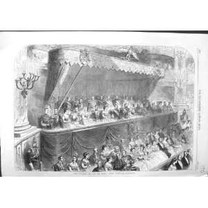 1867 IMPERIAL BOX GRAND OPERA PARIS FRANCE OLD PRINT Home