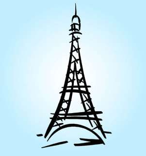 Art Decor Eiffel Tower Paris France Decal Sticker Travel Eiffle